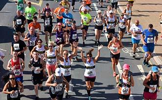 Runner at 2018 Torbay Half Marathon