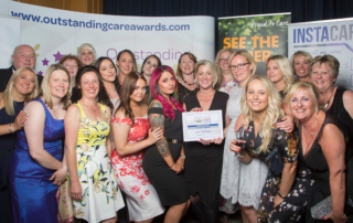 Team Ocean accepting award at Outstanding Care Awards 2019