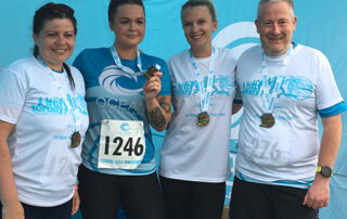 Some of the THM Team Ocean healthcare runners who had finished